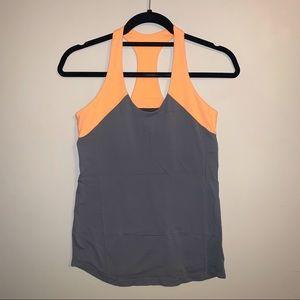 2/$30 Lululemon orange / grey racerback tank top
